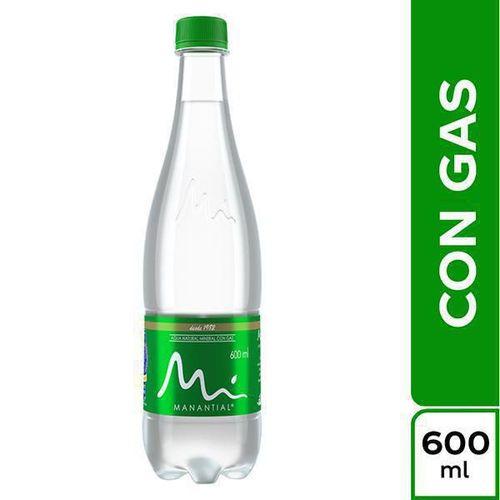 Agua manantial con gas x 600 ml