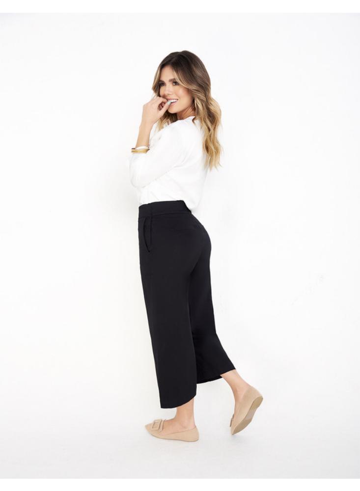 Pantalon Dama Culotte En Dril Cierre Lateral Bianc Exito Exito Com
