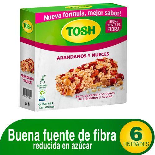BARRA DE CEREAL ARANDANOS TOSH 138 Gramo