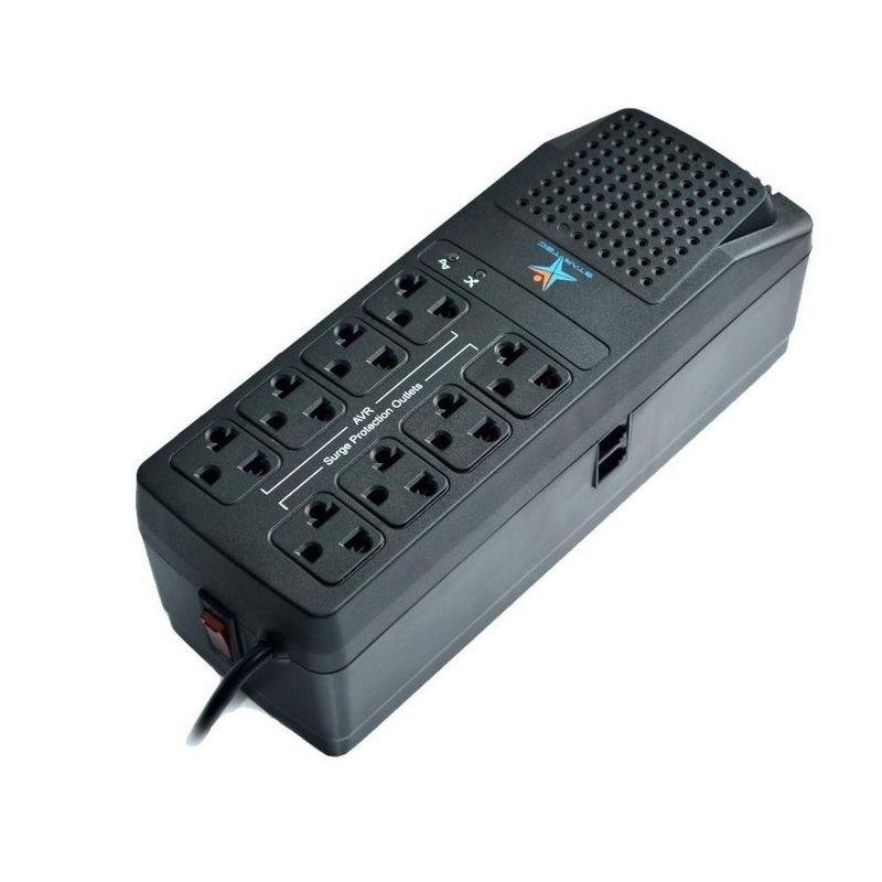 Regulador Startec 1200Va 600W 8 Tomas